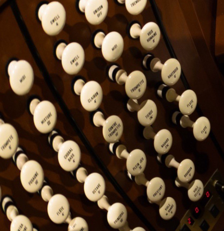 Learning the pedals of an organ is like an art form.