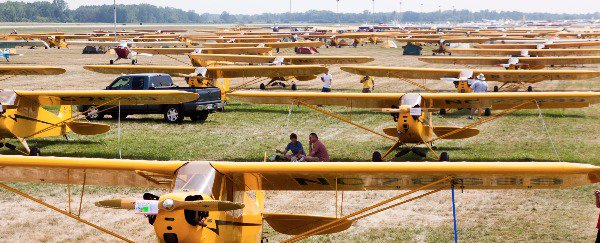 The Sea of Piper Cubs at EAA AirVenture