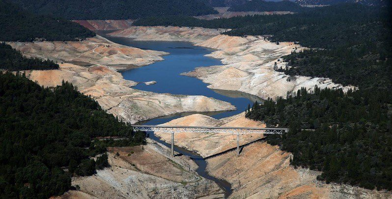 Lake County Drought shown by Lake Oroville in The Atlantic
