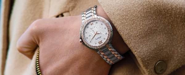 An ornate women's luxury watch.
