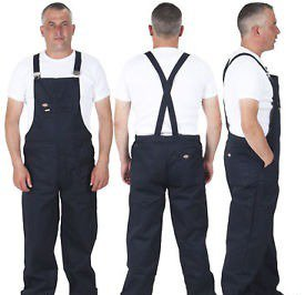 These triplets look sharp in their work overalls.