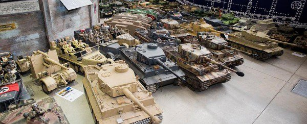 A bunch of model tanks