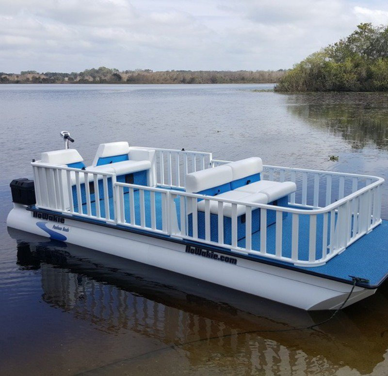 Some pontoon boats are simple.