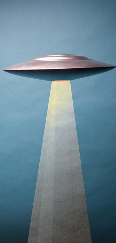 The classic flying saucer has no visible method of propulsion.