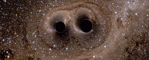 Black Holes collide and create waves