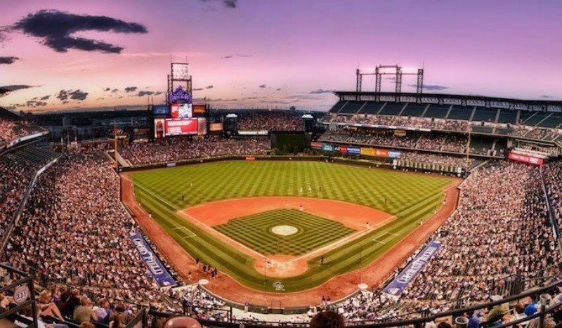 Aerial view of Coors Field