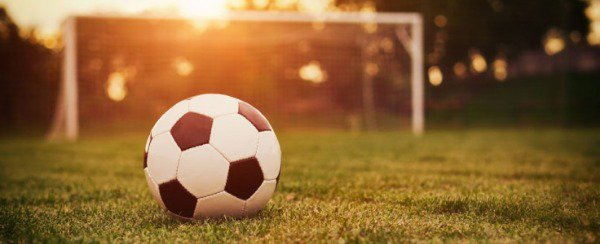 Beautiful shot of a soccer ball