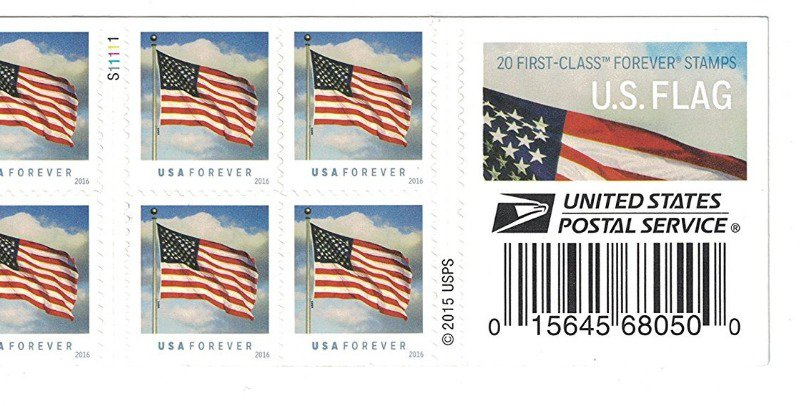 Forever stamps from 2016