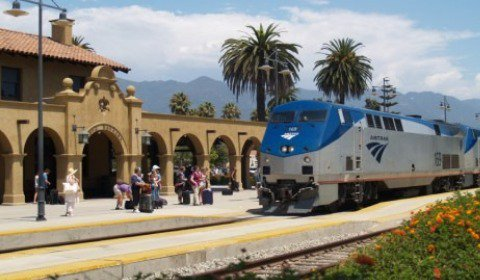 The Santa Barbara train station