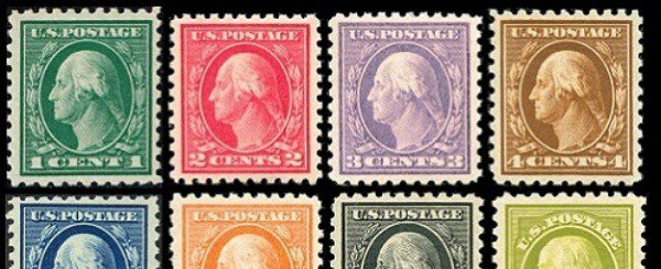 Really cool, colorful, old US Stamps