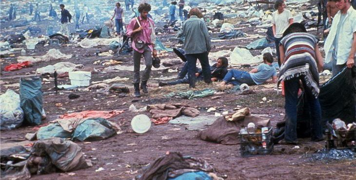 Image result for woodstock aftermath images