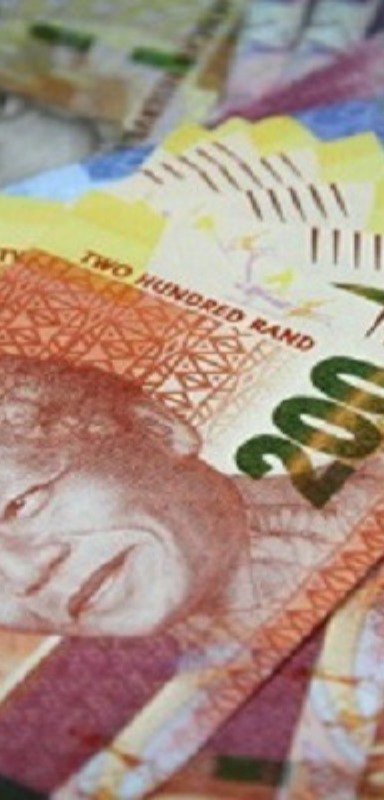 South African Rand currency.