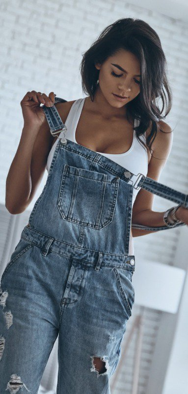 After a long day, work overalls can also double as cute overalls!