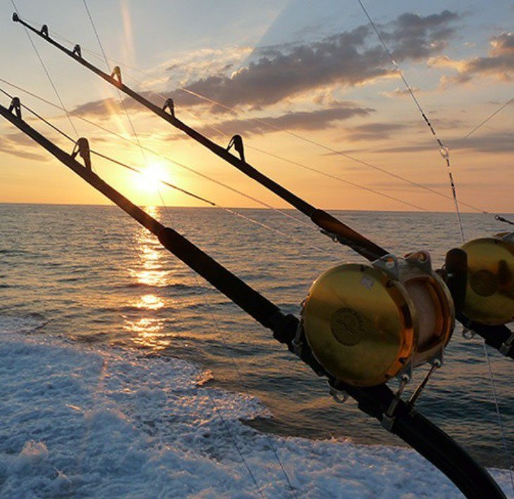 Sunset fishing shot. Beautiful.