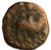 A bronze magi antique coin.