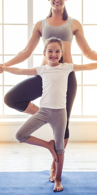 Even kids are able to enjoy the joys of yoga, and especially the fashion!