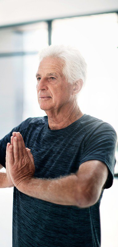 Yoga tops come in all different shapes and sizes, including men's designs