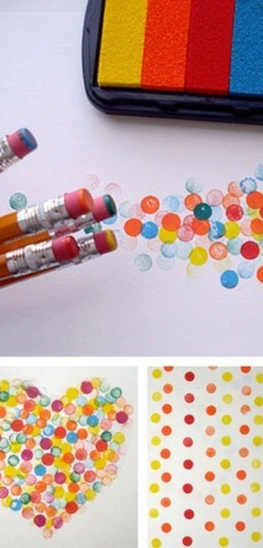 Use pencil erasers