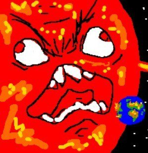 Artist's interpretation of the devastation brought on by the red giant.