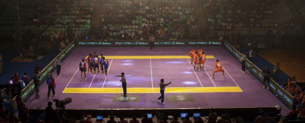 A full Kabaddi court in India