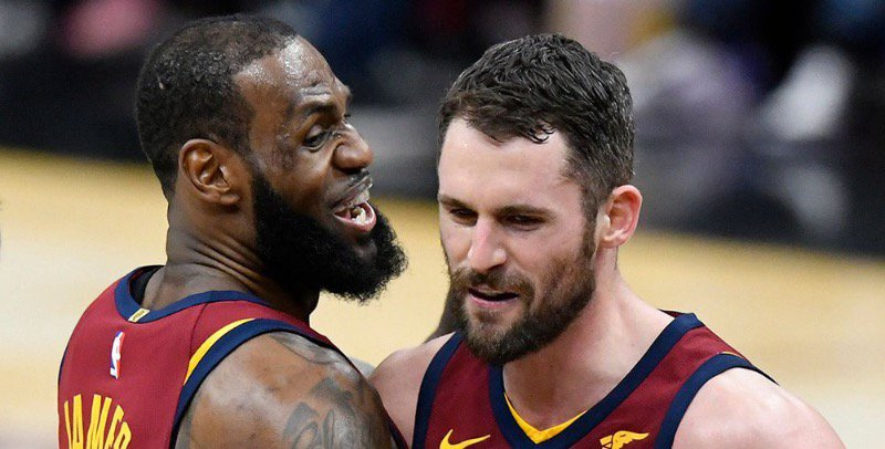 I bet LeBron is excited to have Love back!