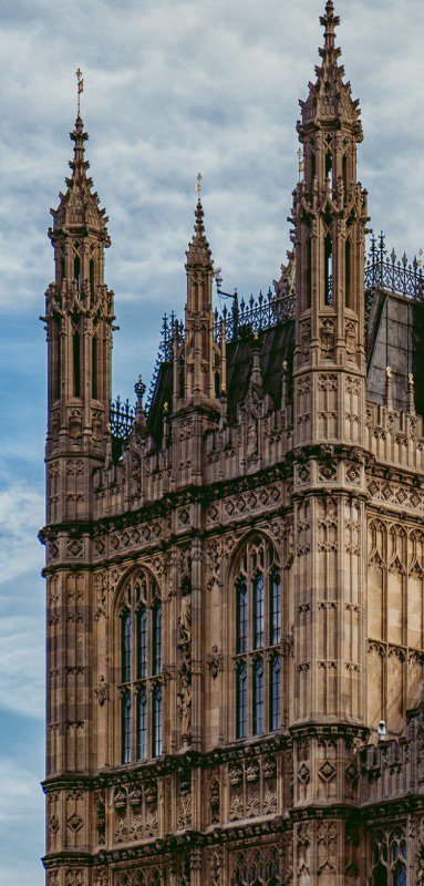 Even buildings like the House of Parliament have cloisters