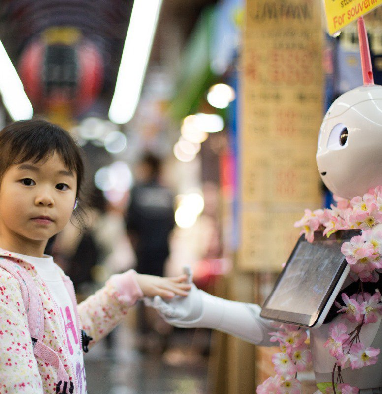 Kids growing up around real life robots are learning not to be afraid