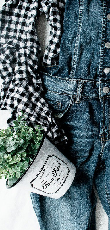 Denim jumpsuits can be paired with anything!