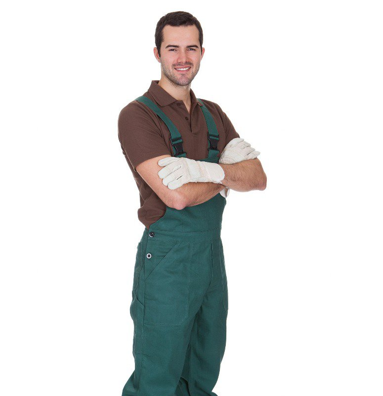 People also use more slick painter's overalls so that they can be clean