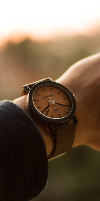 Even a stylish wooden watch can be found in most discount stores