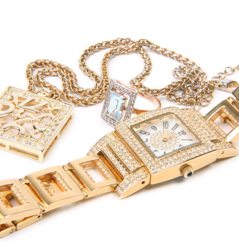 Even this gold watch with diamonds can be found at a discount