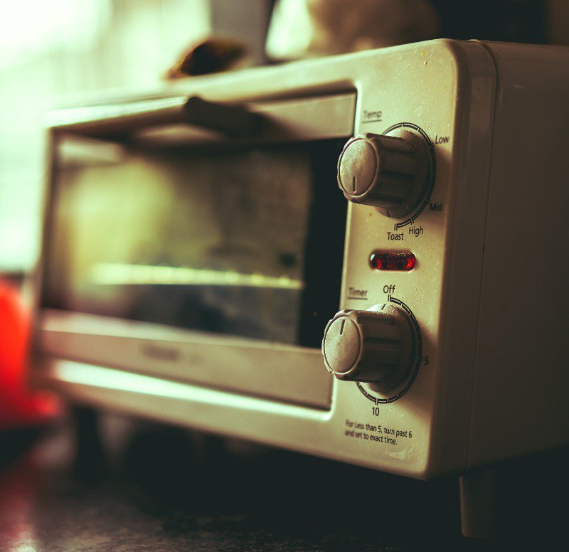 Toaster ovens don't even have clocks on them sometimes!