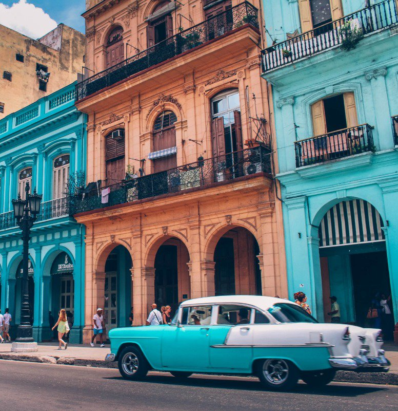 Vintage cars are especially well known in Cuba!