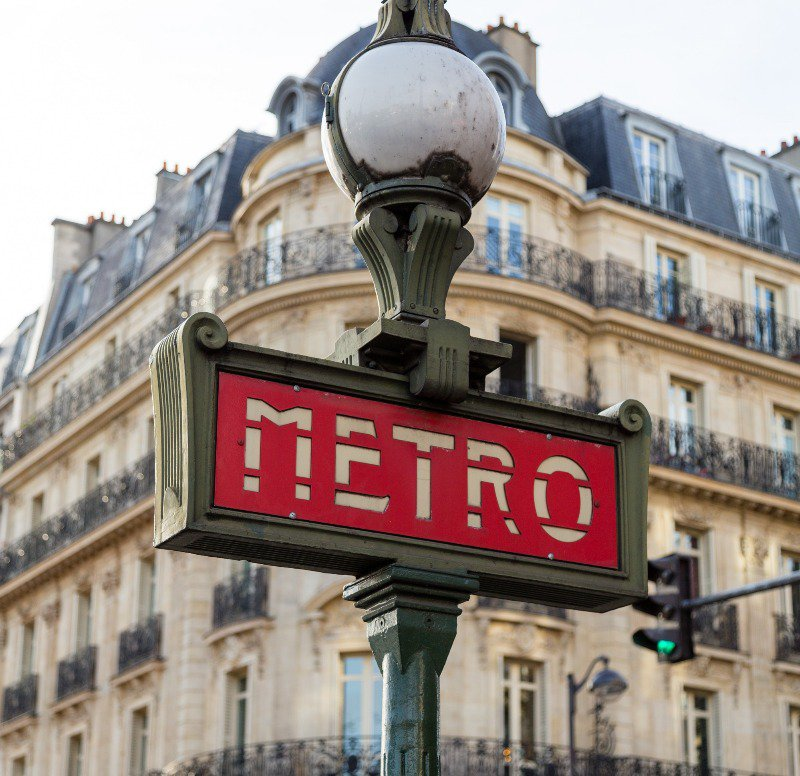 The Metro signs are easy to find usually in big cities