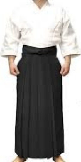 Traditional Aikido garb.