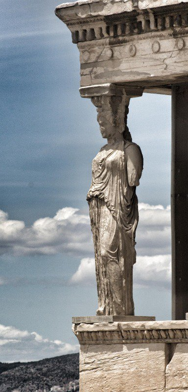 A caryatid at the Erechtheion