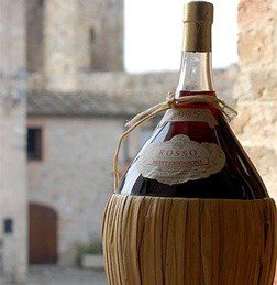 A nice bottle of Chianti wine.