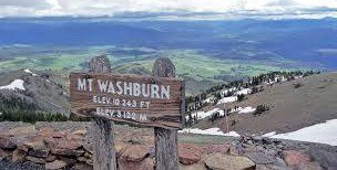 Mount Washburn sign.