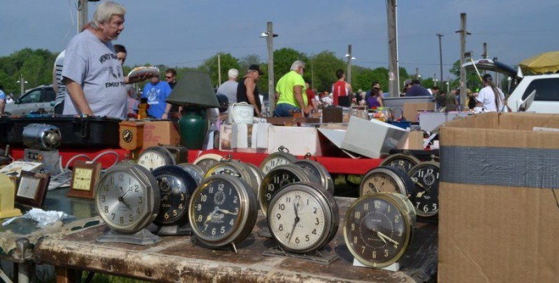 Do you need some cool clocks? Roger's flea market has you covered!