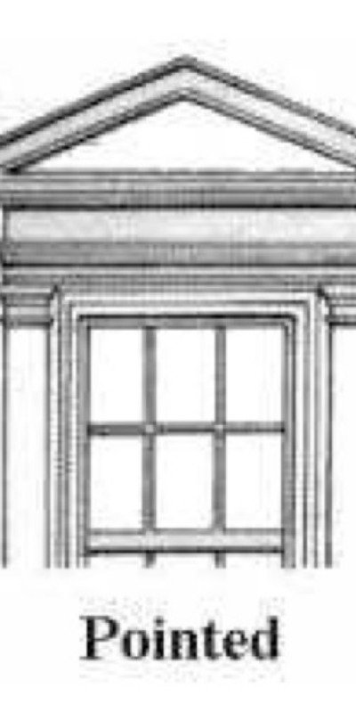 Pointed pediments