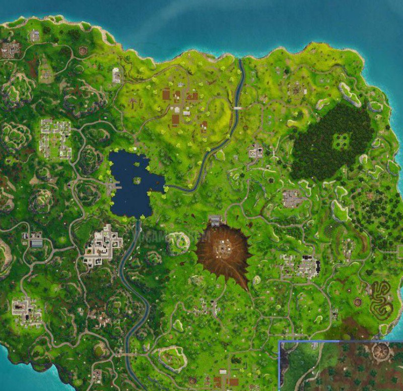 Part of the Fortnite map.