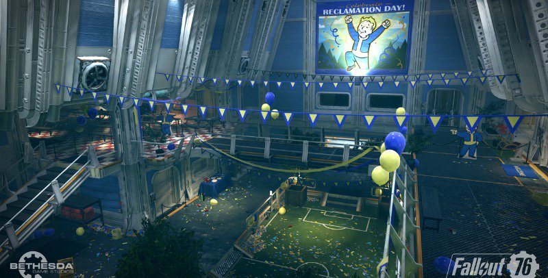 The atrium of vault 76.