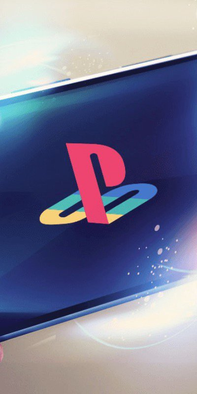 PlayStation logo on mobile device.