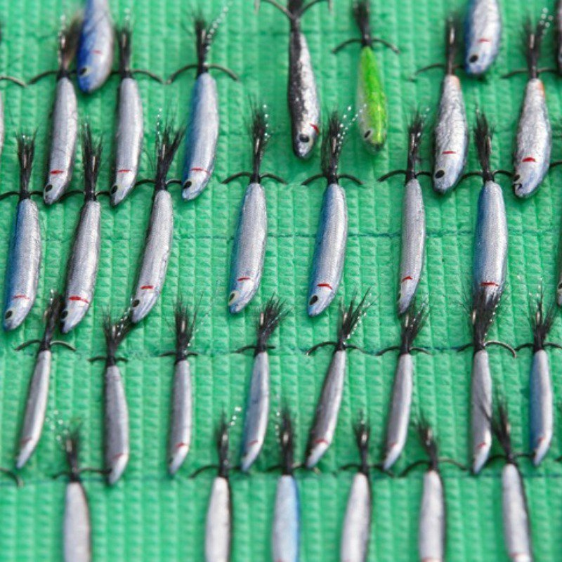 Hand-made spoon baits, tackles and wobblers
