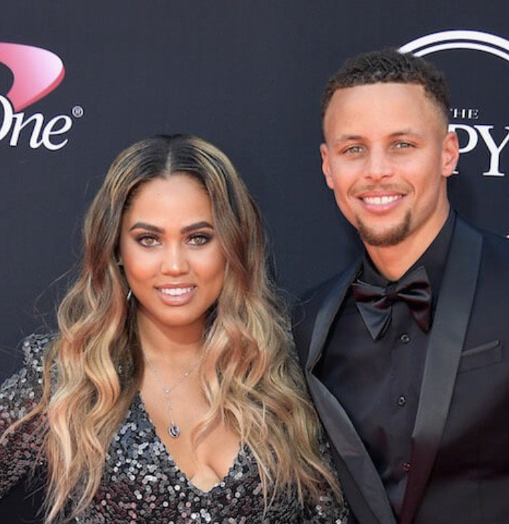Steph with his wife Ayesha.