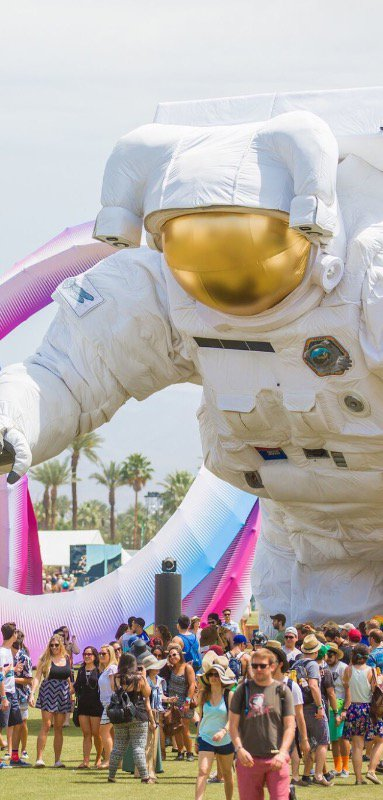 A giant astronaut at Coachella!