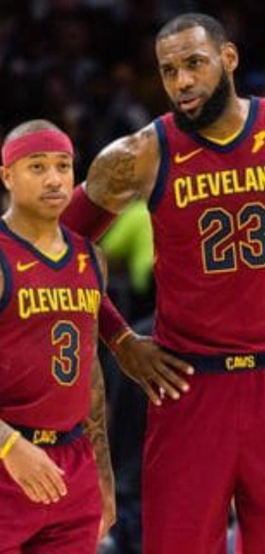 Isaiah Thomas and LeBron James.